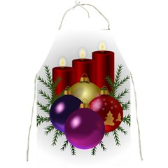 Candles Christmas Tree Decorations Full Print Aprons