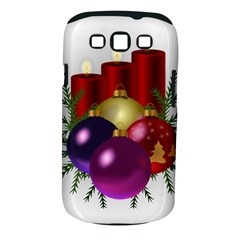 Candles Christmas Tree Decorations Samsung Galaxy S Iii Classic Hardshell Case (pc+silicone) by Nexatart