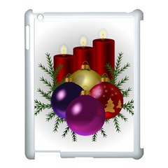 Candles Christmas Tree Decorations Apple Ipad 3/4 Case (white) by Nexatart