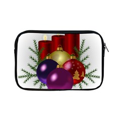 Candles Christmas Tree Decorations Apple Ipad Mini Zipper Cases by Nexatart