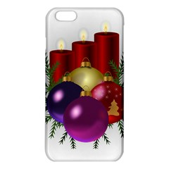 Candles Christmas Tree Decorations Iphone 6 Plus/6s Plus Tpu Case by Nexatart