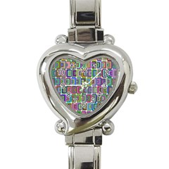 Psychedelic 70 S 1970 S Abstract Heart Italian Charm Watch by Nexatart
