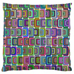 Psychedelic 70 S 1970 S Abstract Large Cushion Case (two Sides)