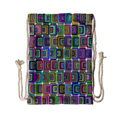Psychedelic 70 S 1970 S Abstract Drawstring Bag (small) by Nexatart
