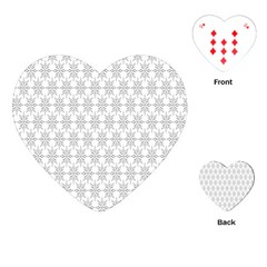 Ornamental Decorative Floral Playing Cards (heart)  by Nexatart