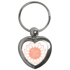 Mandala I Love You Key Chains (heart)  by Nexatart