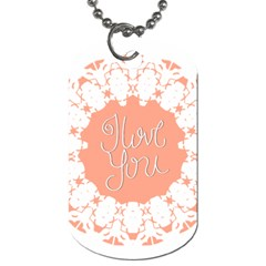 Mandala I Love You Dog Tag (two Sides) by Nexatart
