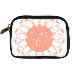 Mandala I Love You Digital Camera Cases by Nexatart