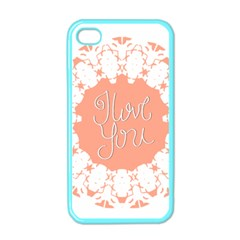 Mandala I Love You Apple Iphone 4 Case (color) by Nexatart