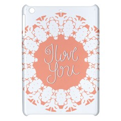 Mandala I Love You Apple Ipad Mini Hardshell Case by Nexatart
