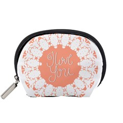 Mandala I Love You Accessory Pouches (small)  by Nexatart