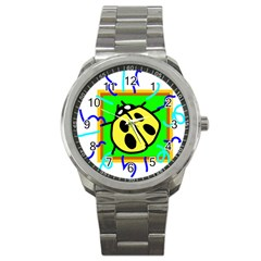Insect Ladybug Sport Metal Watch