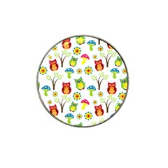 Cute Owl Wallpaper Pattern Hat Clip Ball Marker (10 Pack) by Nexatart