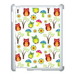 Cute Owl Wallpaper Pattern Apple Ipad 3/4 Case (white) by Nexatart