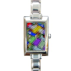 Abstract Background Pattern Rectangle Italian Charm Watch by Nexatart