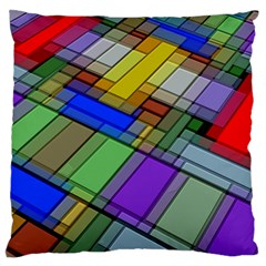 Abstract Background Pattern Large Flano Cushion Case (one Side) by Nexatart