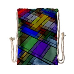 Abstract Background Pattern Drawstring Bag (small) by Nexatart