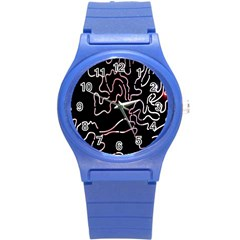 Abstract Glare Visual Art Round Plastic Sport Watch (s)