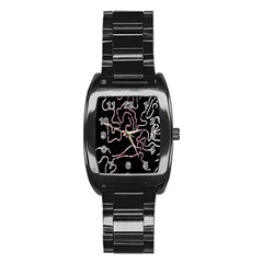 Abstract Glare Visual Art Stainless Steel Barrel Watch