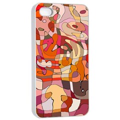 Abstract Abstraction Pattern Modern Apple Iphone 4/4s Seamless Case (white)