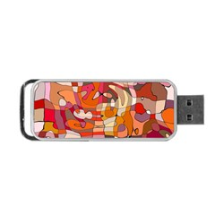 Abstract Abstraction Pattern Modern Portable Usb Flash (one Side)