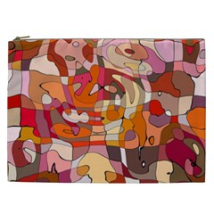 Abstract Abstraction Pattern Modern Cosmetic Bag (xxl)