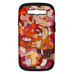 Abstract Abstraction Pattern Modern Samsung Galaxy S Iii Hardshell Case (pc+silicone)