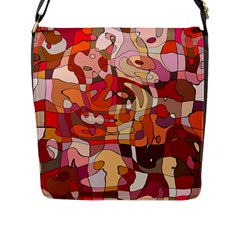 Abstract Abstraction Pattern Modern Flap Messenger Bag (l)