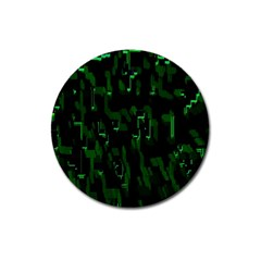 Abstract Art Background Green Magnet 3  (round)