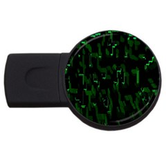 Abstract Art Background Green Usb Flash Drive Round (2 Gb)