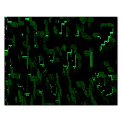 Abstract Art Background Green Rectangular Jigsaw Puzzl