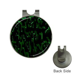 Abstract Art Background Green Hat Clips With Golf Markers