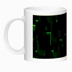 Abstract Art Background Green Night Luminous Mugs