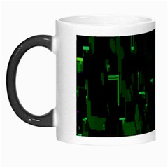 Abstract Art Background Green Morph Mugs