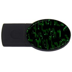 Abstract Art Background Green Usb Flash Drive Oval (4 Gb)