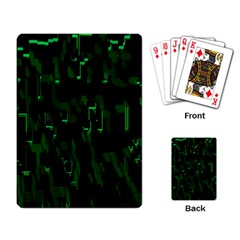Abstract Art Background Green Playing Card