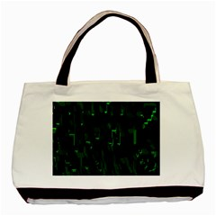 Abstract Art Background Green Basic Tote Bag