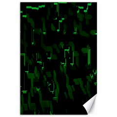 Abstract Art Background Green Canvas 12  X 18