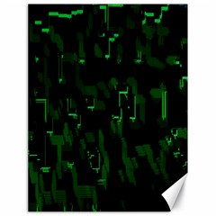 Abstract Art Background Green Canvas 18  X 24
