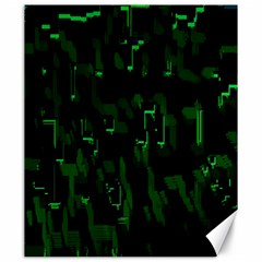 Abstract Art Background Green Canvas 20  X 24