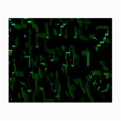 Abstract Art Background Green Small Glasses Cloth (2 Side)
