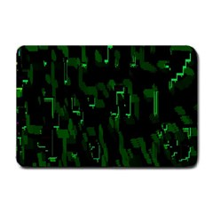 Abstract Art Background Green Small Doormat