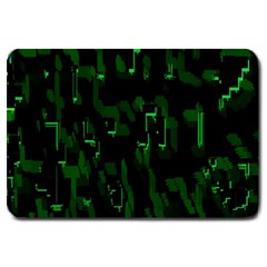 Abstract Art Background Green Large Doormat