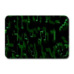 Abstract Art Background Green Plate Mats