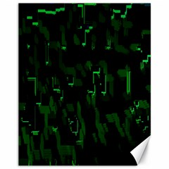 Abstract Art Background Green Canvas 11  X 14