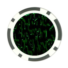 Abstract Art Background Green Poker Chip Card Guard