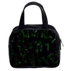 Abstract Art Background Green Classic Handbags (2 Sides)