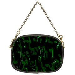 Abstract Art Background Green Chain Purses (two Sides)