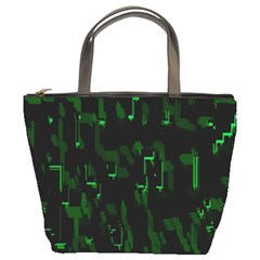 Abstract Art Background Green Bucket Bags