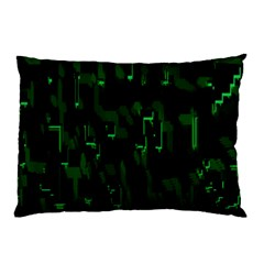 Abstract Art Background Green Pillow Case